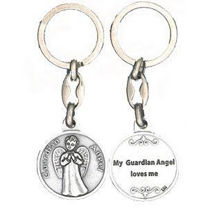 Loves Me Guardian Angel Keychain