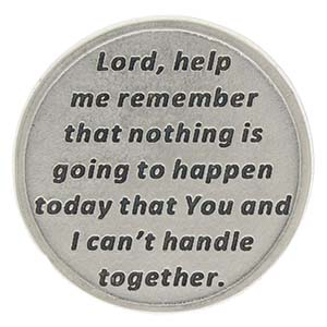 Lord Help Me Remember Prayer Coin Back