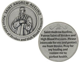 St. Andrew Avelino  Strokes & High Blood Pressure Coin