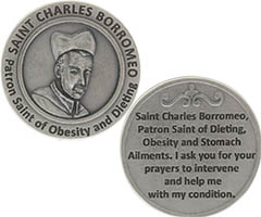 St. Charles Borromeo Obesity & Dieting Prayer Coin