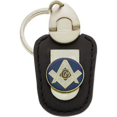 Masonic Key Chain Deluxe Leather Keychain
