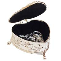 Heart Shaped Wedding Arras Box & Coins