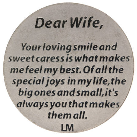 Dear Wife Pocket Coin Back