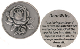 Dear Wife, Special Love Joy Pocket Coin