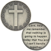 Lord Help Me  Handle Today Prayer Coin
