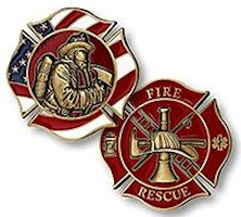 Fireman w/ Airtank Firefighter Challenge Coin