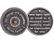Faith Mustard Seed Pewter Coins
