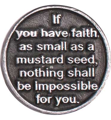 Faith Mustard Seed Coin Back