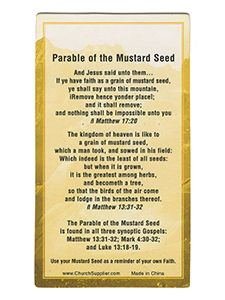 Mustard Seed Pewter Key Chain