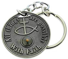 1372 Mustard Seed Key Chain Faith
