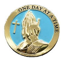 Serenity Prayer Praying Hands Deluxe Gold Coin,