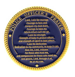 Police Coin Deluxe Gold Challenge Prayer