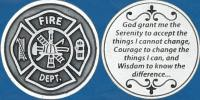 Firemans Serenity Prayer Coin Fire Department