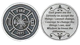 Firefighter's Serenity Prayer Coin Fire Department
