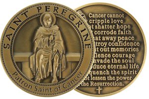 St. Peregrine Cancer Coin Token Deluxe