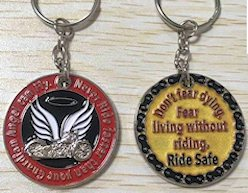Motorcycle Key Chain  Guardian Angel - Deluxe