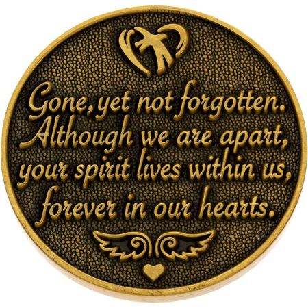 Always in Our Hearts Memorial Coin - Gold Reverse