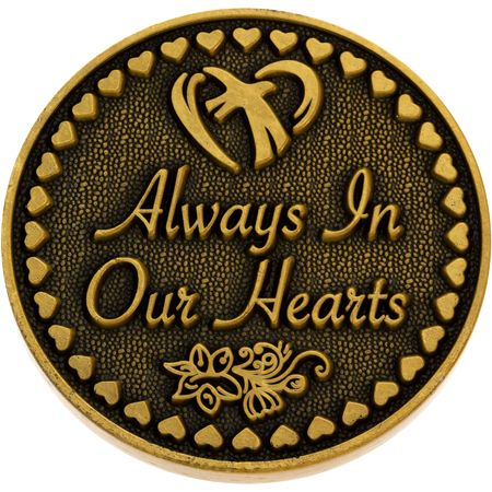 Always in Our Hearts Memorial Coin - Gold