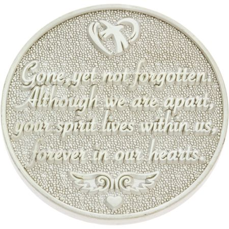 Always in Our Hearts Memorial Coin - Silver Reverse