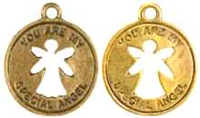 Angel Coin Charms  Gold- You Are Special (Pkg of 12)
