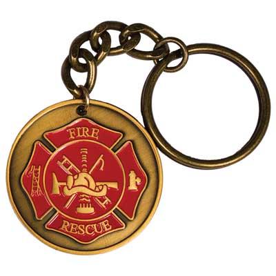 Firefighter Prayer Key Chain