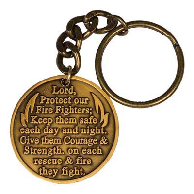 Fire Fighter Prayer Keychain Maltese Cross