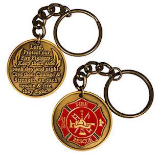 Firefighter Prayer Keychain