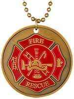 FireFighter Prayer Necklace Gold