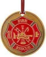 FireFighter Prayer Ornament Gold