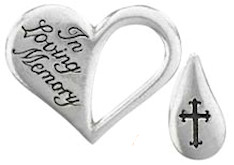 Memorial Tear Token Heart Shaped