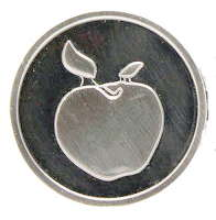 teacher blessing coin with apple