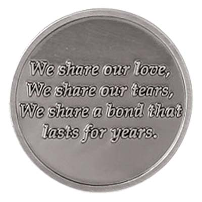 Best Friends Last Forever Coin Token Pewter