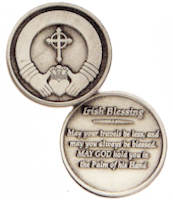 Irish Blessing Coins with Claddagh