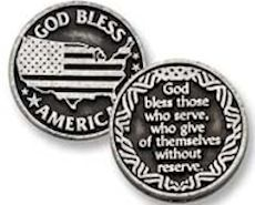 God Bless America Armed Services Coin