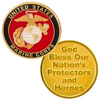 US Marine Corp Coin Gold