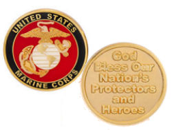USA Marines God Bless Protectors Coin