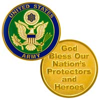 USA Army Coin God Bless Gold Token