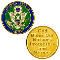 USA Army God Bless Heroes & Protectors Coin