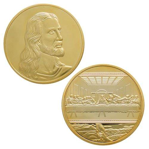 Jesus, Last Supper by Da Vinci Gold Coin Deluxe