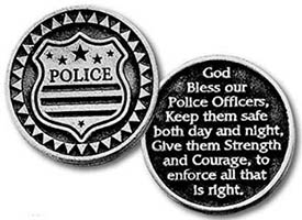 Bless Police Token Coin Pewter