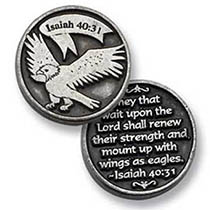 Eagle Wait Upon The Lord Coin