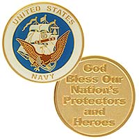 USA Navy God Bless Protectors Heroes Coin