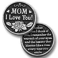 Mom I Love You Pocket Coin Keepsake