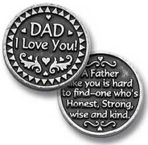 Dad I Love You Pewter Coin
