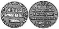 Friendship Coin pewter