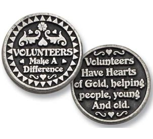 Thank You Volunteers Coin