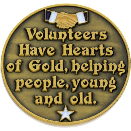 Volunteers Make A Difference Coins Thank You