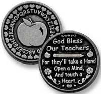 God Bless Our Teacher Apple Coin