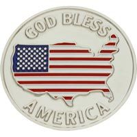God Bless America Veterans Coin USA Flag