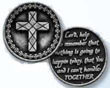 Lord Help Me  to Remember Coin Token pewter